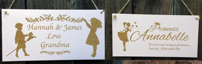 personalised wooden signs engraved
