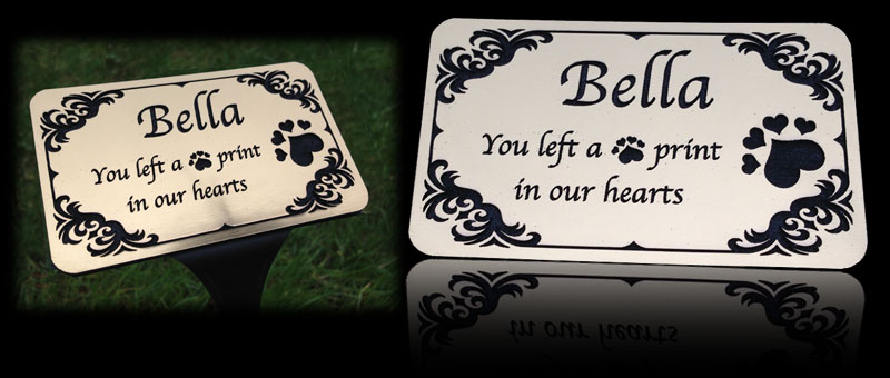 pet-memorials and plaques