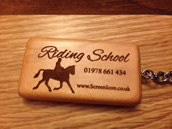 engraved wooden key rings