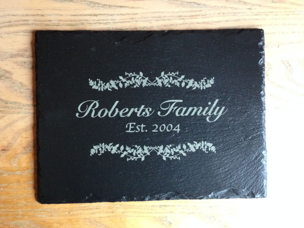 personalised slate placemats