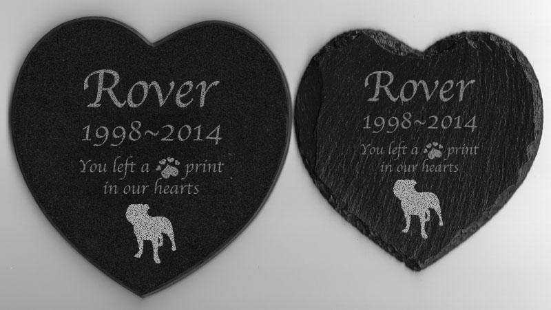 Pet memorial staffordshire bull terrier