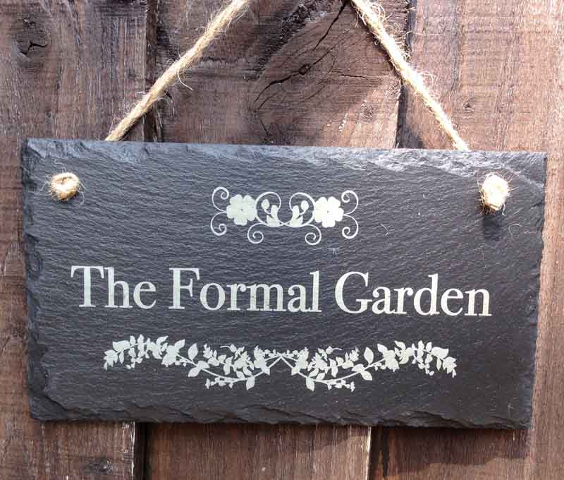 personalised garden signs 099