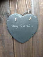 personalised garden signs heart slate