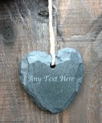 personalised garden signs mini slate hearts