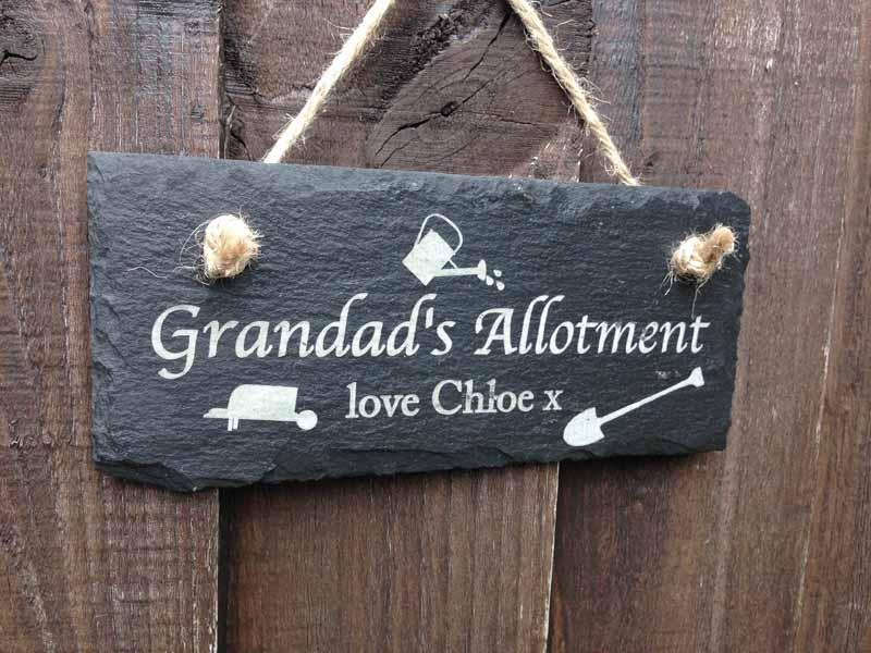 personalised garden slate engraved cs