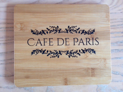 personalised wooden placemat