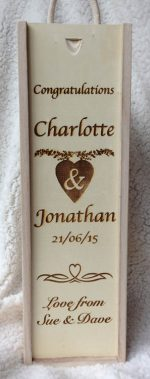 engraved wedding wine box main