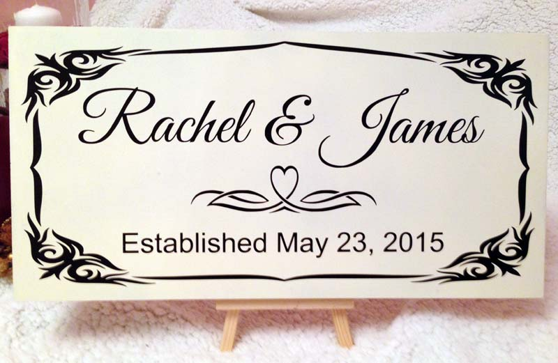 personalised wooden wedding signs