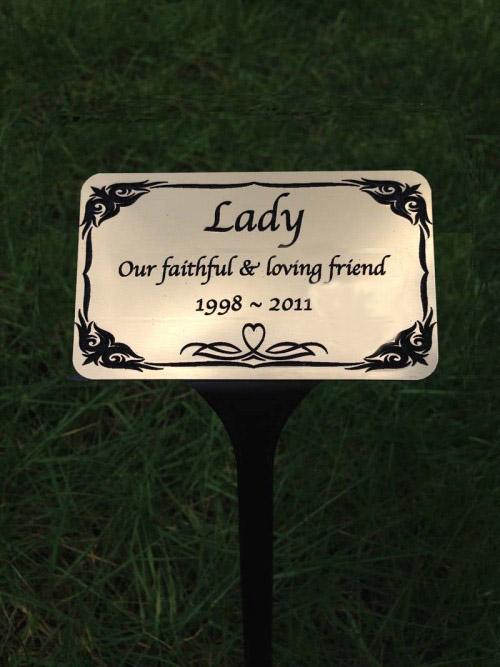 pet memorial for garden