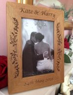personalised photo frame in oak 3
