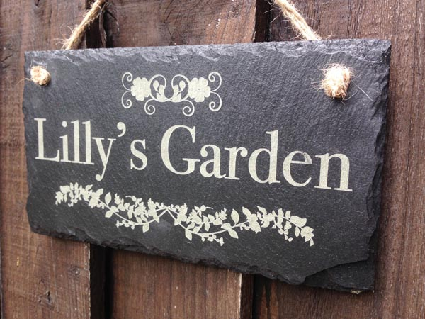 personalised slate garden signs