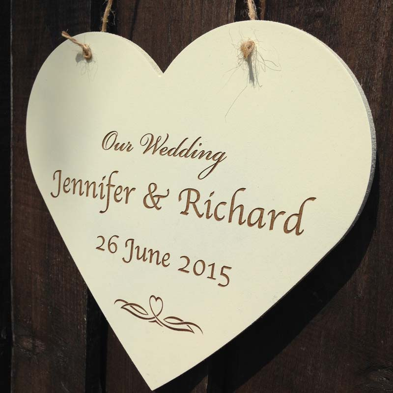 Personalised Wooden Heart Plaques Personalised Garden