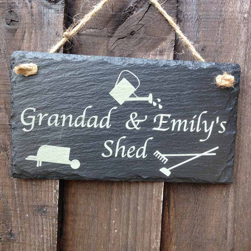 garden signs engraved