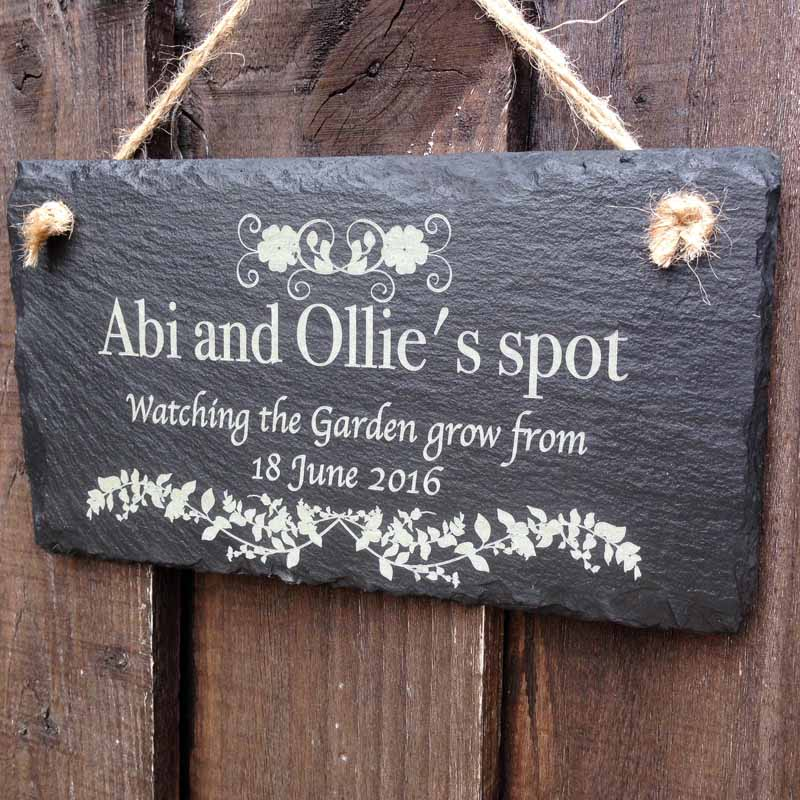 personalised garden signs 112