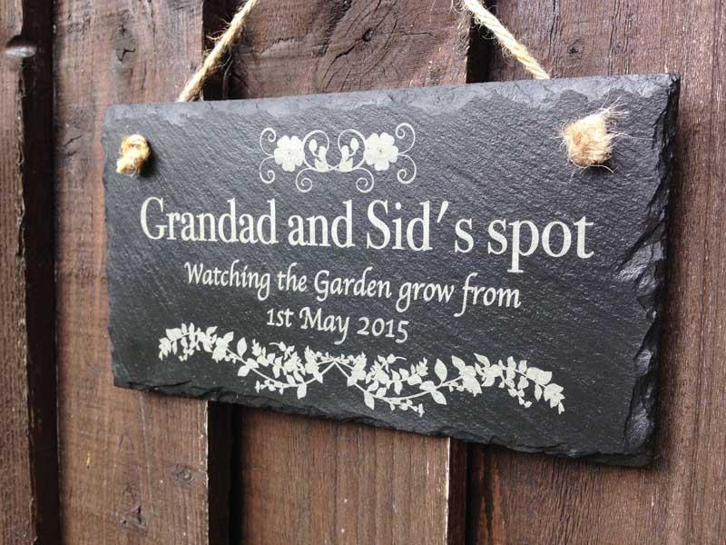 personalised slate garden signs