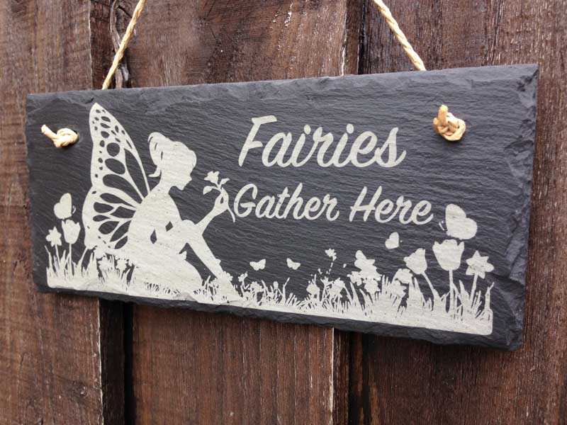 fairies gather here signs