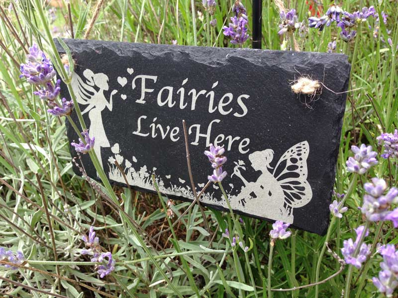 fairies live here sign 1