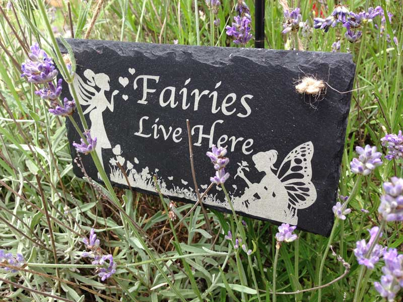 fairies live here signs