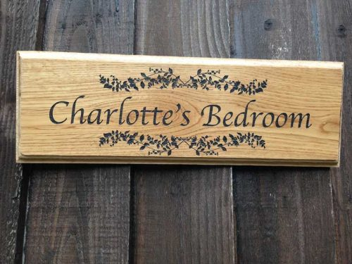 Personalised Oak Sign Lightwood Personalised Garden