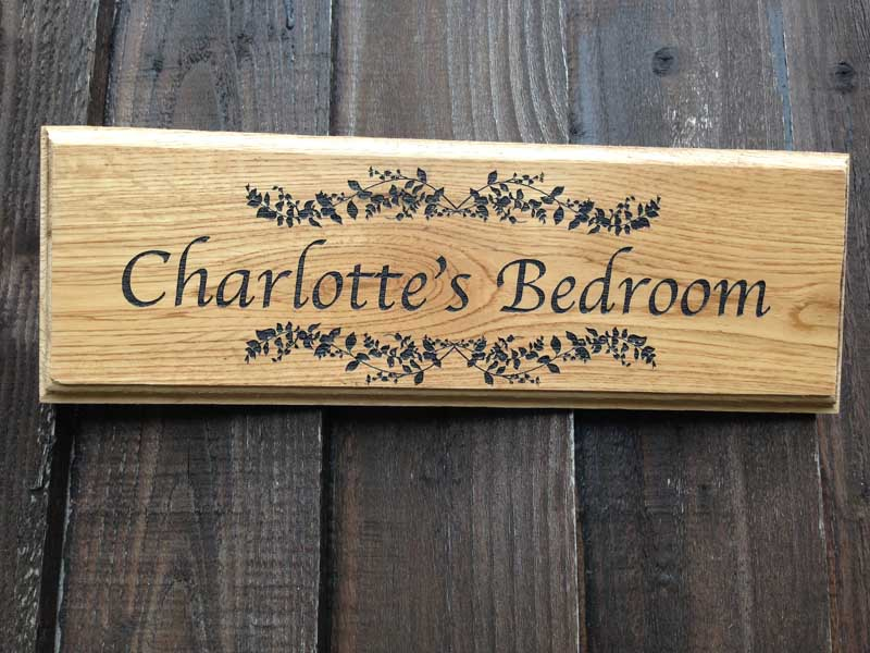 personalised oak bedroom door signs 3