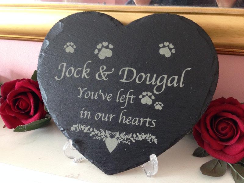 pet memorial large slate heart 03