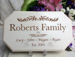 wedding personalised signs family