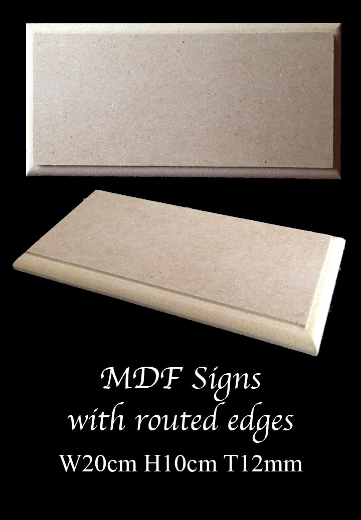 blank MDF plaques signs