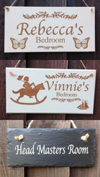 Personalised Bedroom Door Signs