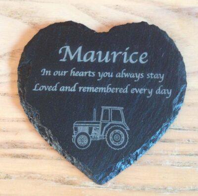 engraved slate memorial