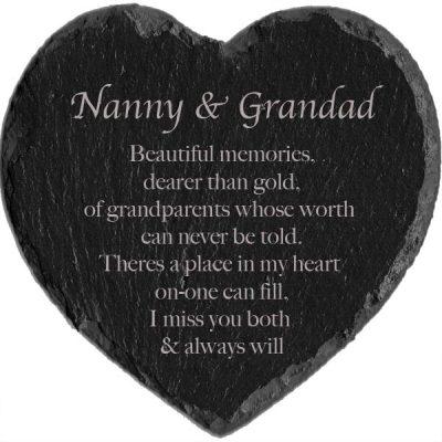 memorial slate heart