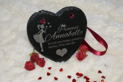 Princess Slate Heart Signs