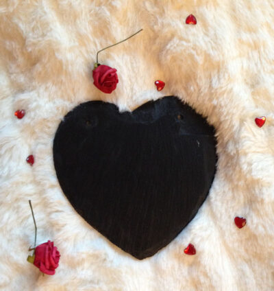 bespoke slate heart sign 15cm