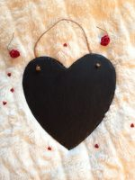 bespoke slate heart sign 25cm