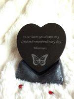 granite memorial heart