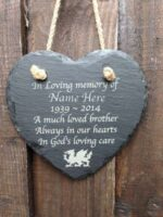 memorial hanging heart