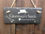 personalised shed signs