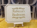 wooden personalised bedroom sign