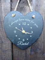 Personalised clock slate