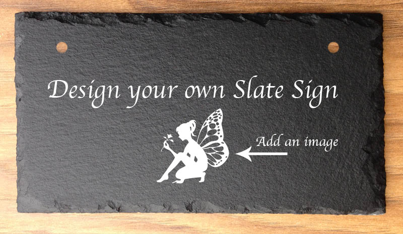 Personalised Garden Or Home Signs In Slate Design Your