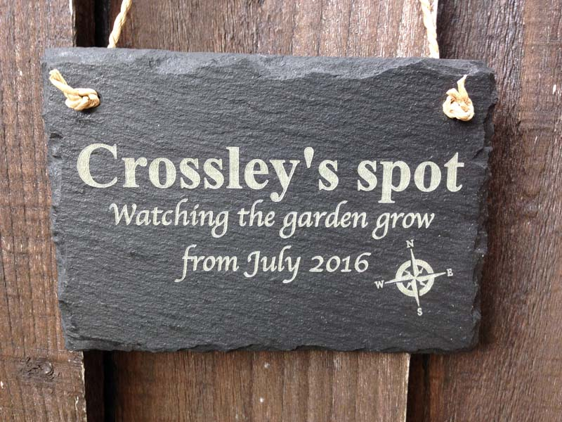 Personalised garden or home signs in slate design your for Design your own house sign