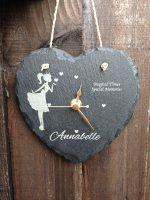 personalised slate clock small