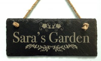 personalised slate garden signs 01