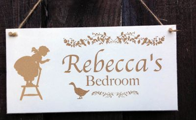 personalised bedroom sign for girls 2