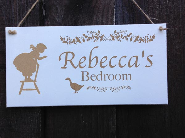 personalised bedroom sign for girls