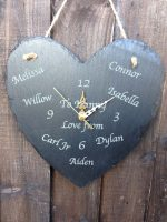 Personalised names slate clock