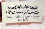 family established sign personalised