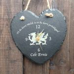 welsh slate clock personalised