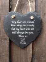 engraved memorial hearts