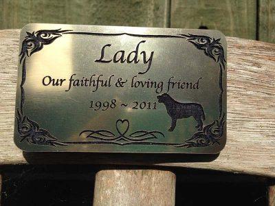 pet memorial plaques for horses