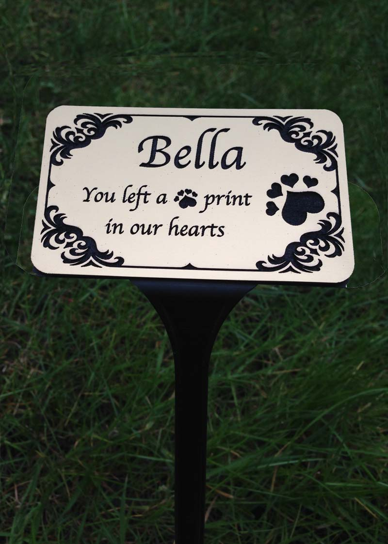 Pet Memorial Plaques On Stand Personalised Garden Signs